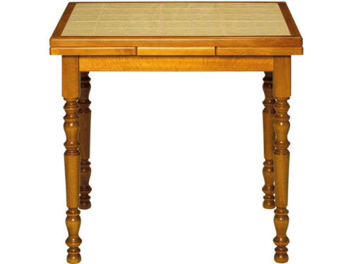 Table rectangulaire en hêtre SAMM VAUCLUSE coloris marron vernis - CONFORAMA
