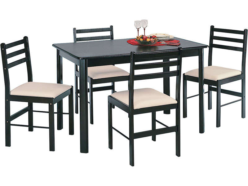 Ensemble Table 4 Chaises New Quatro Dark Conforama