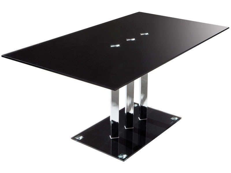 table rectangulaire video coloris noir
