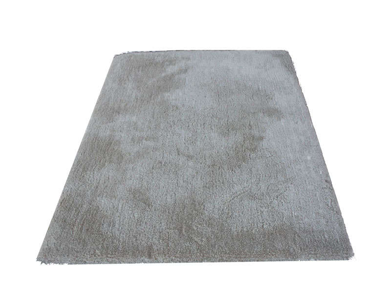 Tapis 120x170 Cm Velour Coloris Gris Conforama
