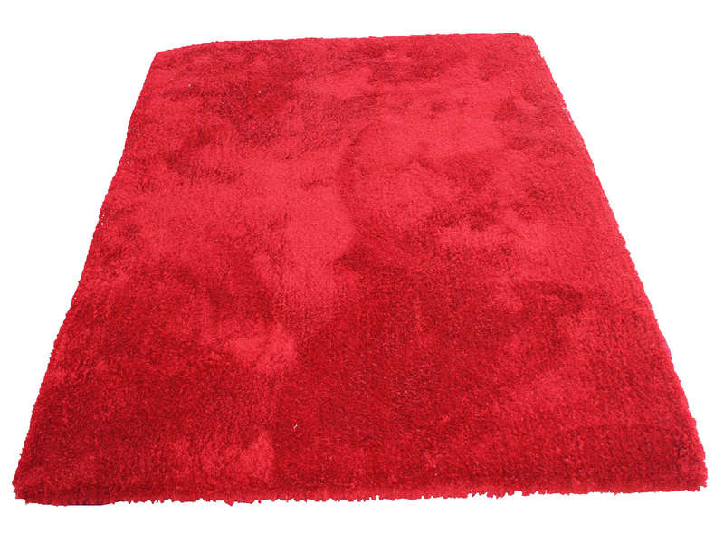 Tapis 160x230 Cm Velour Coloris Rouge Conforama