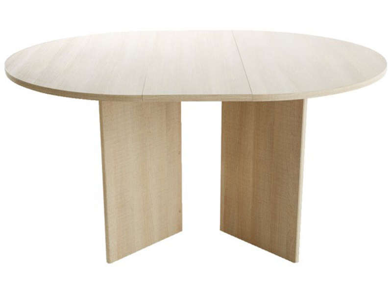 Table ronde LANA coloris praline - CONFORAMA