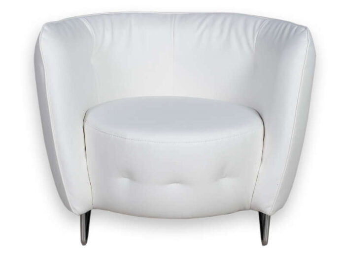 Fauteuil MAYBE coloris blanc - CONFORAMA