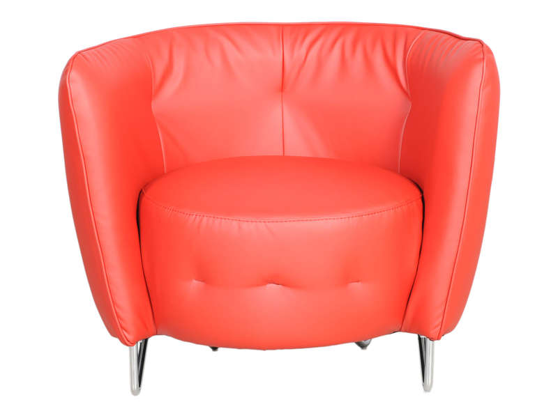 Fauteuil MAYBE coloris rouge - CONFORAMA