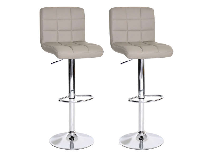 Lot De 2 Tabourets De Bar Nala Coloris Taupe Conforama