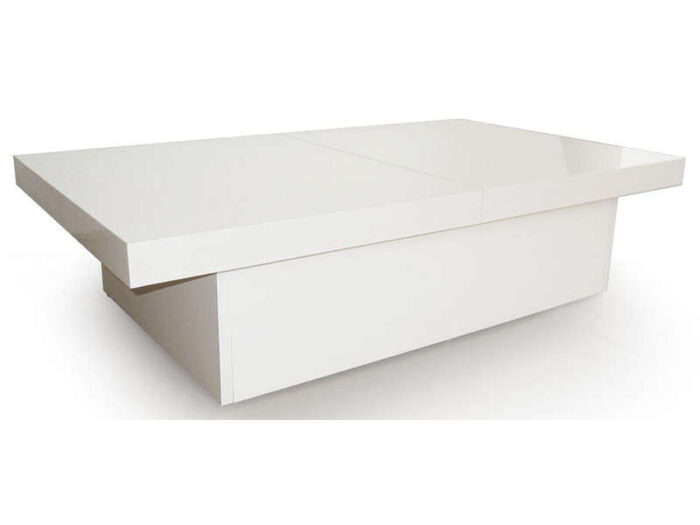 Table basse TANGO coloris blanc - CONFORAMA