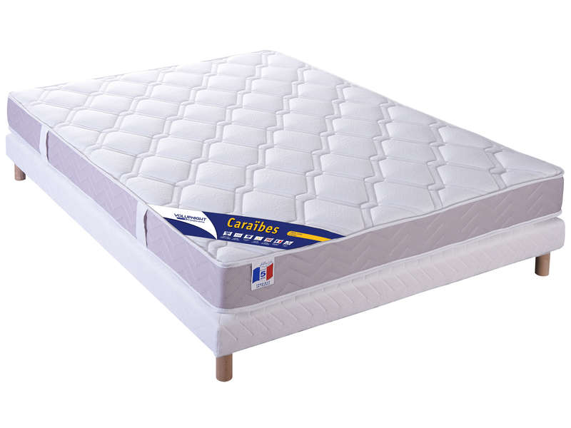 matelas sommier 140x190 cm volupnight caraibes. Black Bedroom Furniture Sets. Home Design Ideas