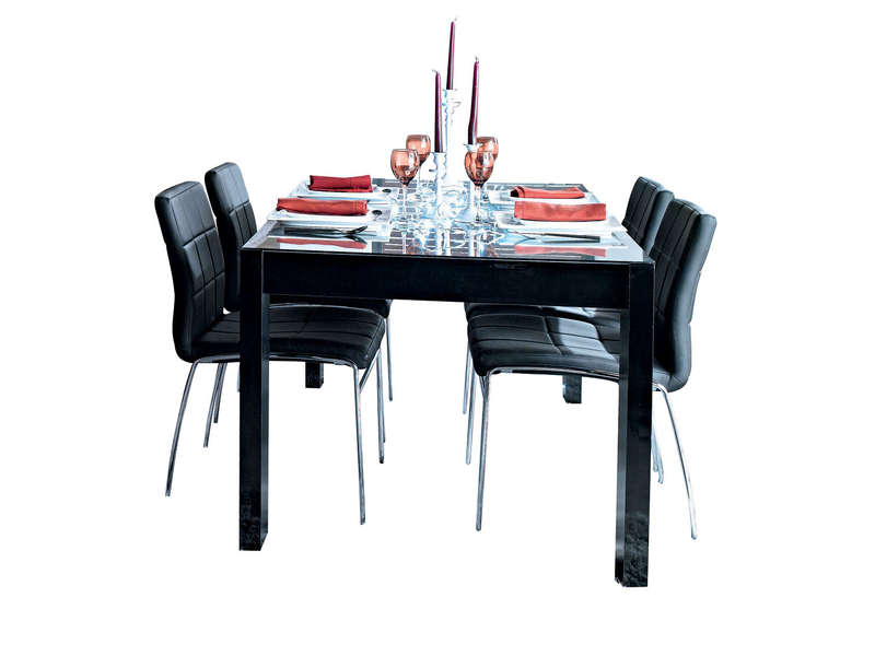 Table Rectangulaire Bel Air Coloris Noir Laque Conforama
