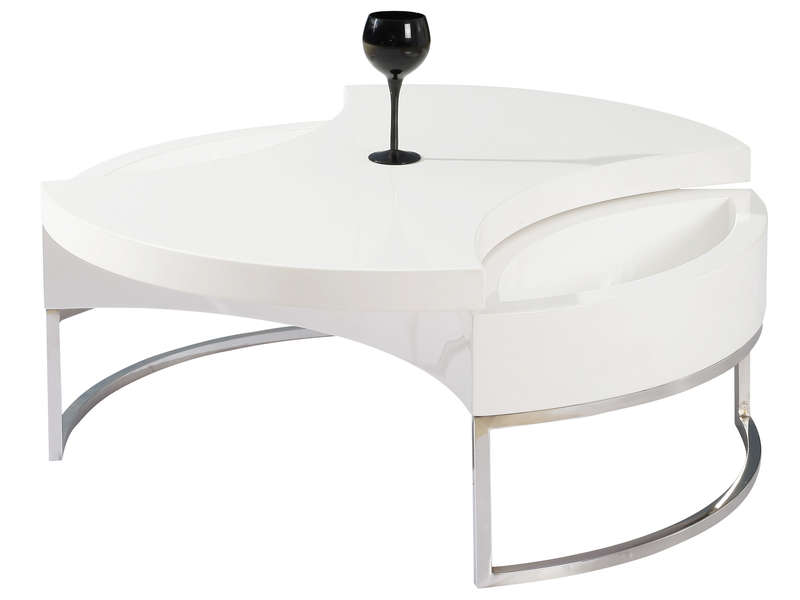 Table Basse Turnaround 2 Coloris Blanc Conforama