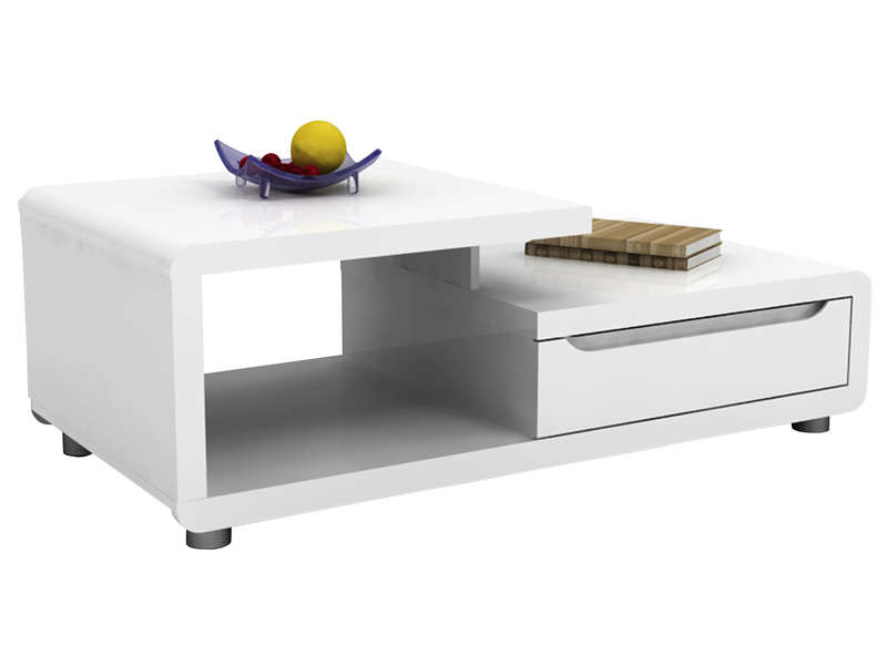 Table Basse Bel Air Coloris Blanc Conforama