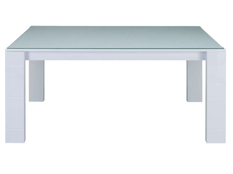 Table Rectangulaire 163 Cm Bel Air Coloris Blanc Laque Conforama