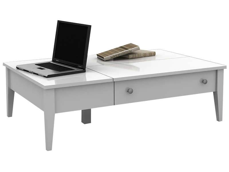 Table Basse Flip Coloris Blanc Conforama