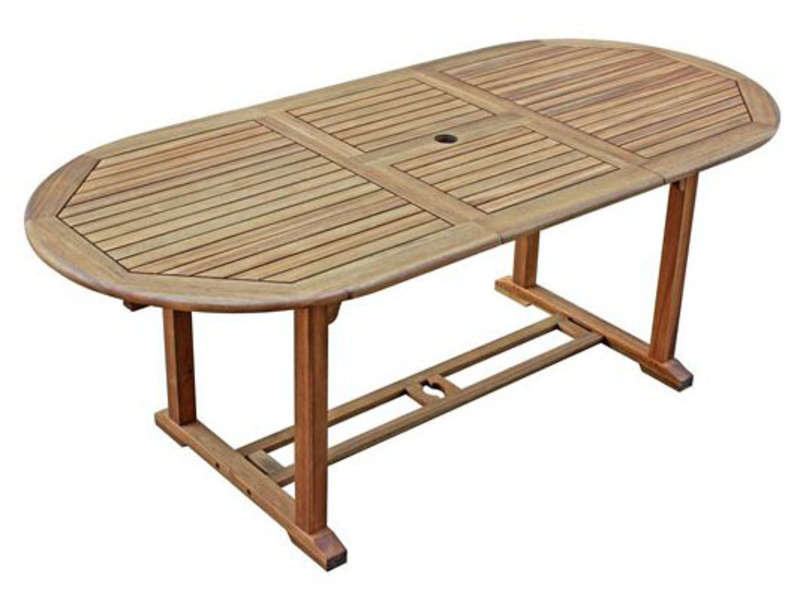 Table de jardin 150 cm avec allonge MAUI - CONFORAMA
