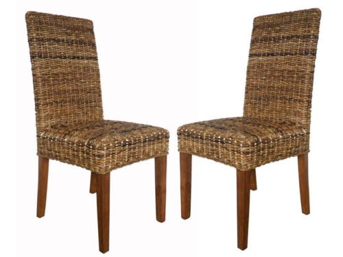 Lot de 2 chaises ABACA - CONFORAMA