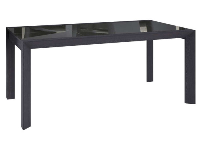 Table 180 cm (allonge en option) RISTRETTO coloris gris foncé - CONFORAMA