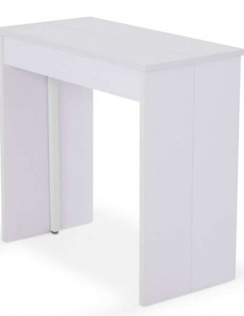 Console extensible + 3 allonges VOLTO coloris blanc - CONFORAMA