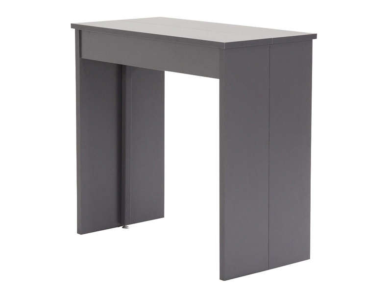 Extensible Conforama 3 Volto Coloris Gris Console Allonges ikOPXZu
