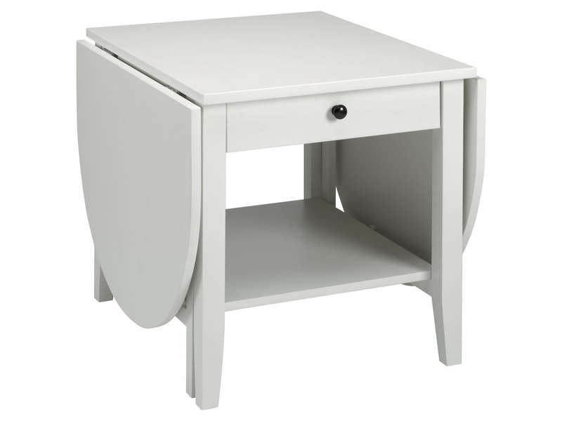 Table basse BARISTA coloris blanc - CONFORAMA