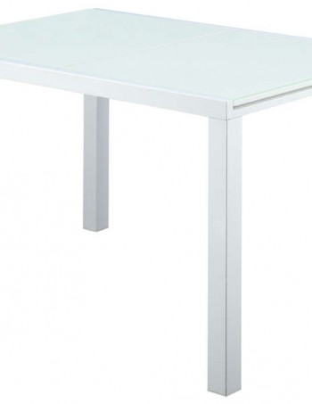 Table blanc 80 cm avec allonge ALICE - CONFORAMA