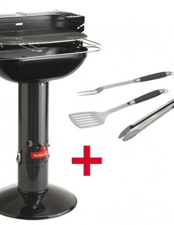 Barbecue à charbon BARBECOOK ARENA BLACK + SET CUISSON OFFERT - Barbecook
