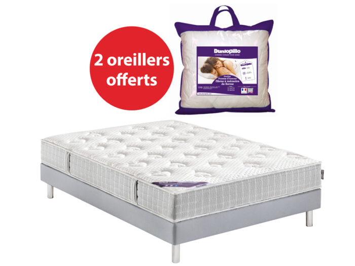 Matelas + sommier + 2 oreillers offerts - CONFORAMA