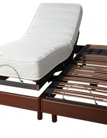 Ensemble de relaxation sommier + matelas Latex 2x80x200 cm - CONFORAMA