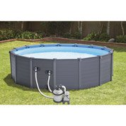 Piscine hors-sol autoportante tubulaire Graphite INTEX