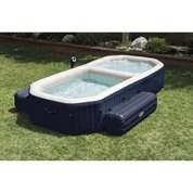 Spa+piscine gonflable INTEX Purespa bulles blue navy rectangle