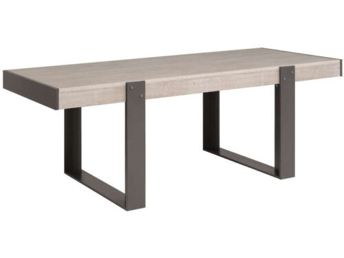 Table NEW BOP coloris gris - CONFORAMA