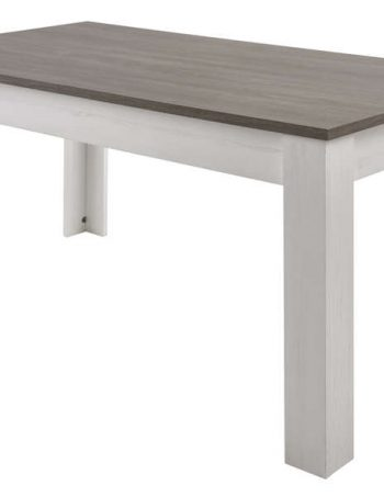 Table avec allonge DUKE coloris blanc - CONFORAMA