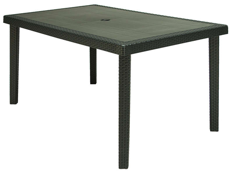 Table De Jardin 90x150 Cm Boheme Coloris Anthracite Conforama