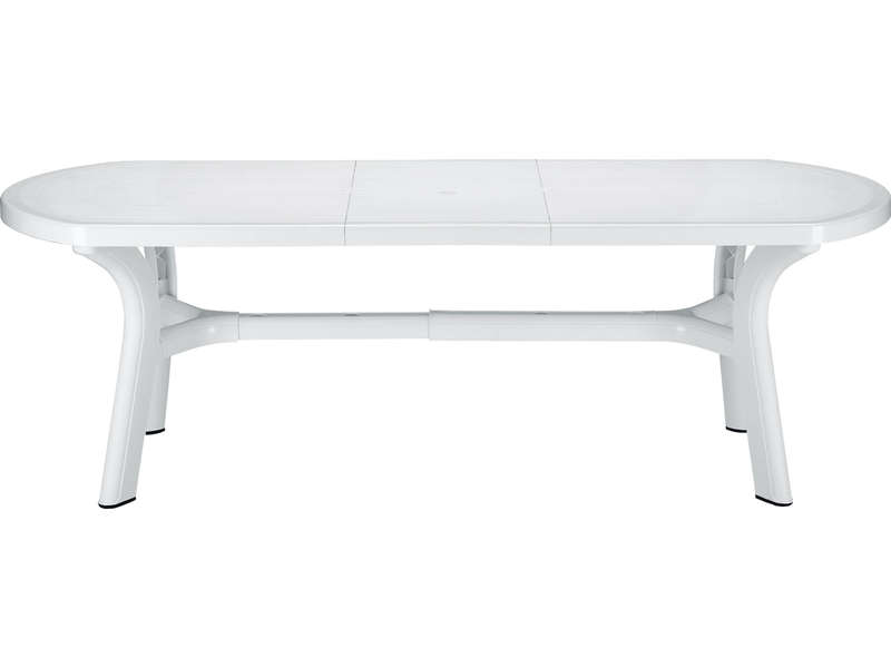 Table De Jardin 90x180 Cm Pagoda Coloris Blanc Conforama