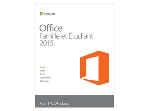 Logiciel utilitaire MICROSOFT OFFICE HOME & STUDENT 2016 - Microsoft