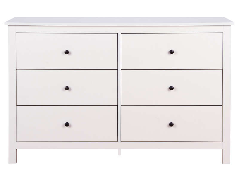 Commode 6 tiroirs LOU coloris blanc - CONFORAMA