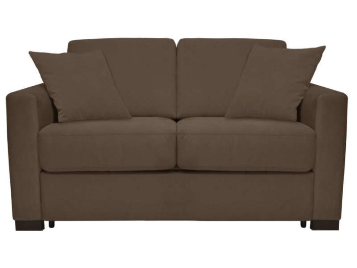 Canapé convertible 2 places SOFLIT 2 coloris taupe - CONFORAMA