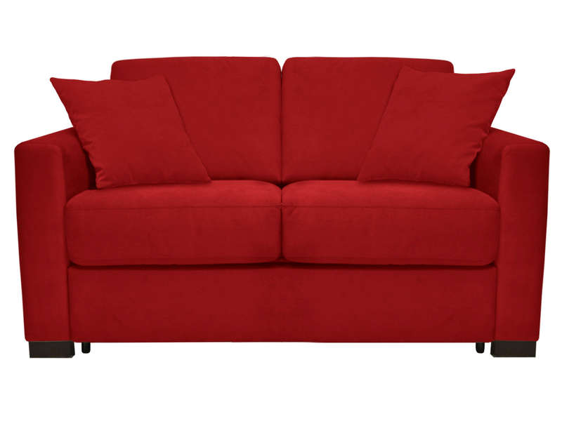 Canapé convertible 2 places SOFLIT 2 coloris rouge - CONFORAMA