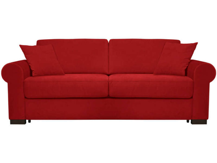Canapé convertible 3 places SOFLIT 2 coloris rouge - CONFORAMA
