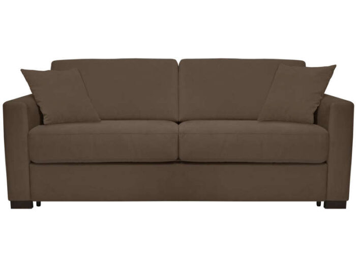 Canapé convertible 3 places SOFLIT 2 coloris taupe - CONFORAMA