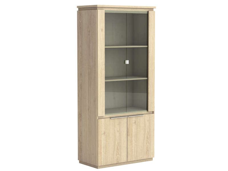 Vitrine sans serrure ORIGIN ARIZONA coloris beige - CONFORAMA