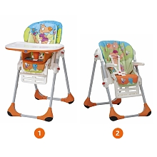 Chaise haute Polly 2 en 1 Wood Friends - Chicco