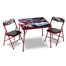 Table et 2 chaises pliantes Cars - Delta Enterprises