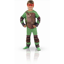 Panoplie luxe Tortue Ninja avec masque et cagoule (taille 3-4 ans) - Rubies