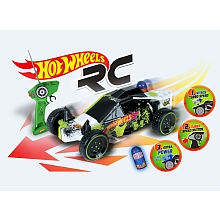 Buggy Nitro Turbo radiocommandé Hot Wheels 1/10ème + batterie 8.4V - Mondo