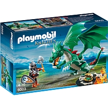 Playmobil  - Chevalier avec grand dragon vert - 6003 - PLAYMOBIL