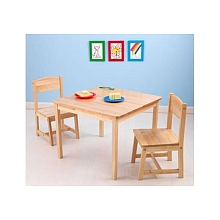 LDD Kidkraft - Ensemble table et 2 chaises Aspen - Naturelle - Kidkraft