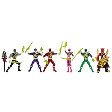 Coffret 6 figurines 12 cm Power Rangers Dino Charge - Bandai