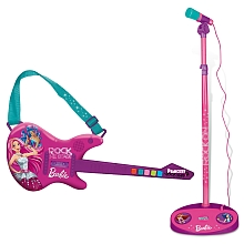 Guitare Électrique + Micro - Barbie - Rose - Imc