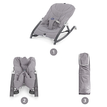 Transat Pocket Relax Gris - Chicco