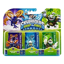 Skylanders Swap Force - Pack 3 Figurines - Zoo Lou + Spyro + Chill - Activision