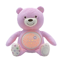 Chicco First Dreams - Ourson Projecteur 1er Rêves - Rose - Chicco